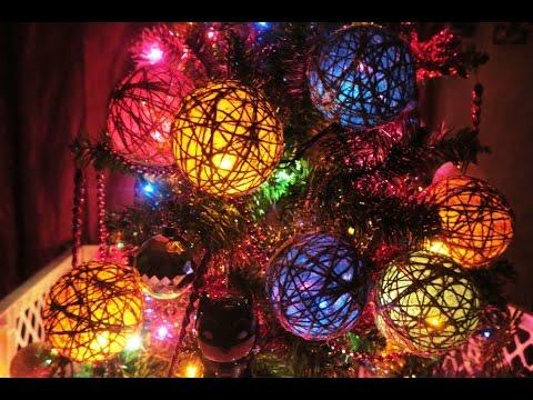 DIY twine ornaments | DIY hanging lights | Twine orbs | Dollar tree DIY