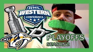 WESTERN CONFERENCE FINALS!! KNEE HOCKEY PLAYOFFS - STARS / PREDATORS - SEASON 2 - QUINNBOYSTV