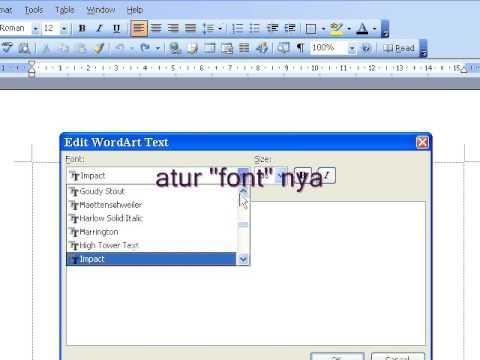 membuat WordArt
