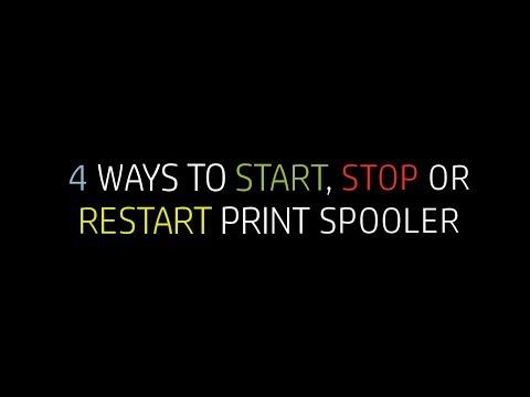 4 Ways to Start, Stop or Restart Print Spooler