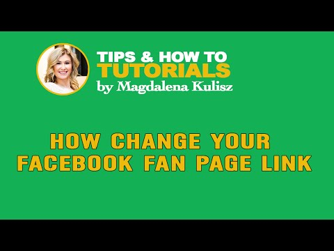How to change Facebook fan page link