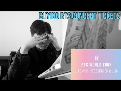buying BTS Love Yourself concert tickets summed up.