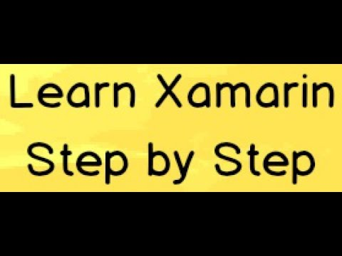 Xamarin android  C# tutorial for Beginners