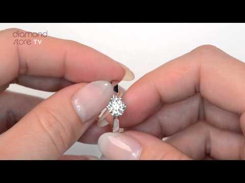 Chloe Diamond Low Set 1ct Engagement Ring - UT23