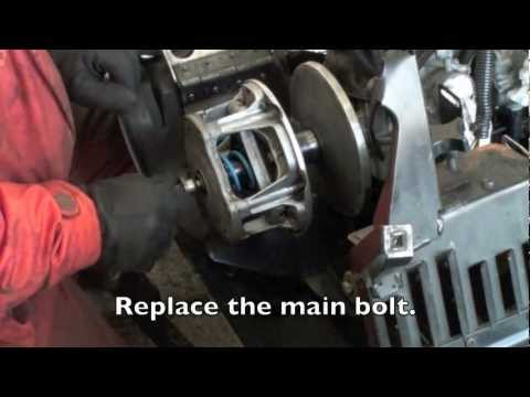 Changing a Snowmobile Primary clutch spring and weights for mod sled.