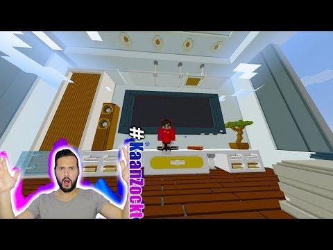 DIE GRÖßTE MODERNE VILLA IN MINECRAFT! Kaan reagiert auf Luxusvilla mit riesigen Möbeln + Pool