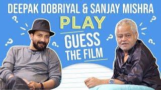 Sanjay Mishra and Deepak Dobriyal take the HILARIOUS quiz on Bollywood characters