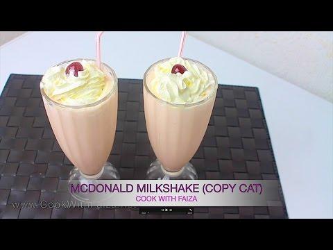 MCDONALD'S STRAWBERRY MILKSHAKE -  سٹرابیری میلک شیک - स्ट्रॉबेरी मिल्कशेक *COOK WITH FAIZA*