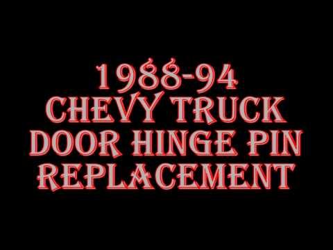 1988-94 Chevy Truck Door Hinge Pin Replacement