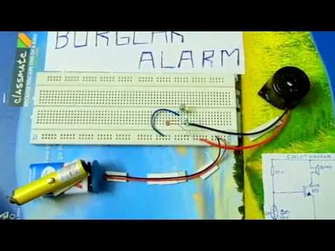 BURGLAR ALARM-Easy project to do