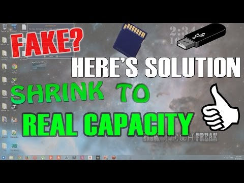 HOW TO SHRINK/DOWNSIZE MEMORY ON FAKE MEMORY CARD/USB/HARD DRIVE