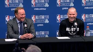 Coach Malone & Coach Budenholzer Postgame Interview   2019 NBA All-Star Game