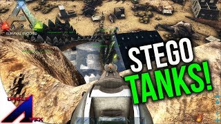 Raiding with Stego Tanks for the first time! | VsPVP: This is ARK! | ARK: Survival Evolved | S4:EP9