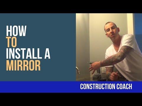 How to Install a Mirror - DIY Bathrooms