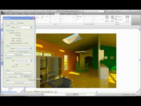 Revit Architecture, Image Rendering, Part 11, Saving your Rendering