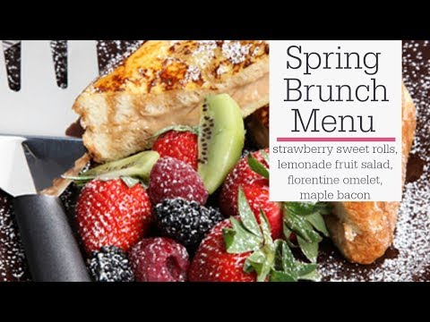 Spring Brunch Menu - Omelet, Bacon, Fruit and Sweet Rolls | RadaCutlery.com