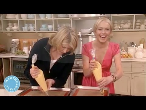 Making Cream Puffs with Lindsay Lohan - Martha Stewart