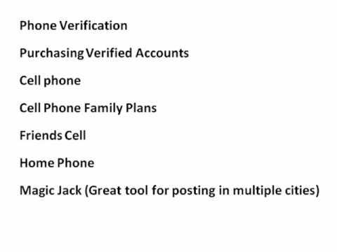 Create Multiple Craigslist Accounts to Avoid Ad Ghosting.