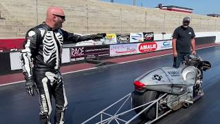 TURBO HAYABUSA RACER FURIOUS OVER CONTROVERSY IN PRO OPEN DRAG BIKE RACING ROUND NO. 1