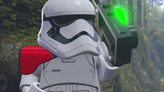 LEGO Star Wars: The Force Awakens - First Order Siege of Takodana Walkthrough (All Minikits)