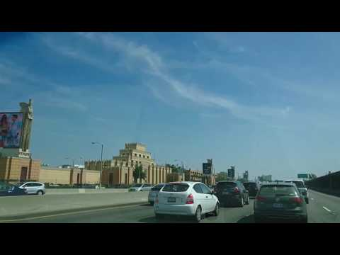 Driving to Sunset Beach across Citadel Outlet Stores.Los Angeles.California.