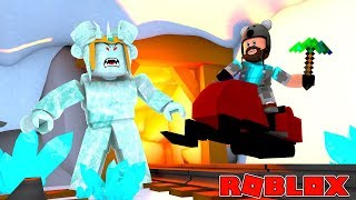 ICE MOUNTAIN BOSS + UNLOCK SECRET CAVE!! | ROBLOX SNOW SHOVELING SIMULATOR