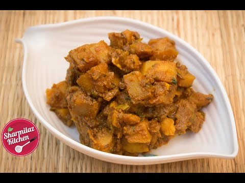 Spicy Dry Potato Curry - Easy Side Dish Recipe For Roti, Paratha or Rice | Sharmilazkitchen