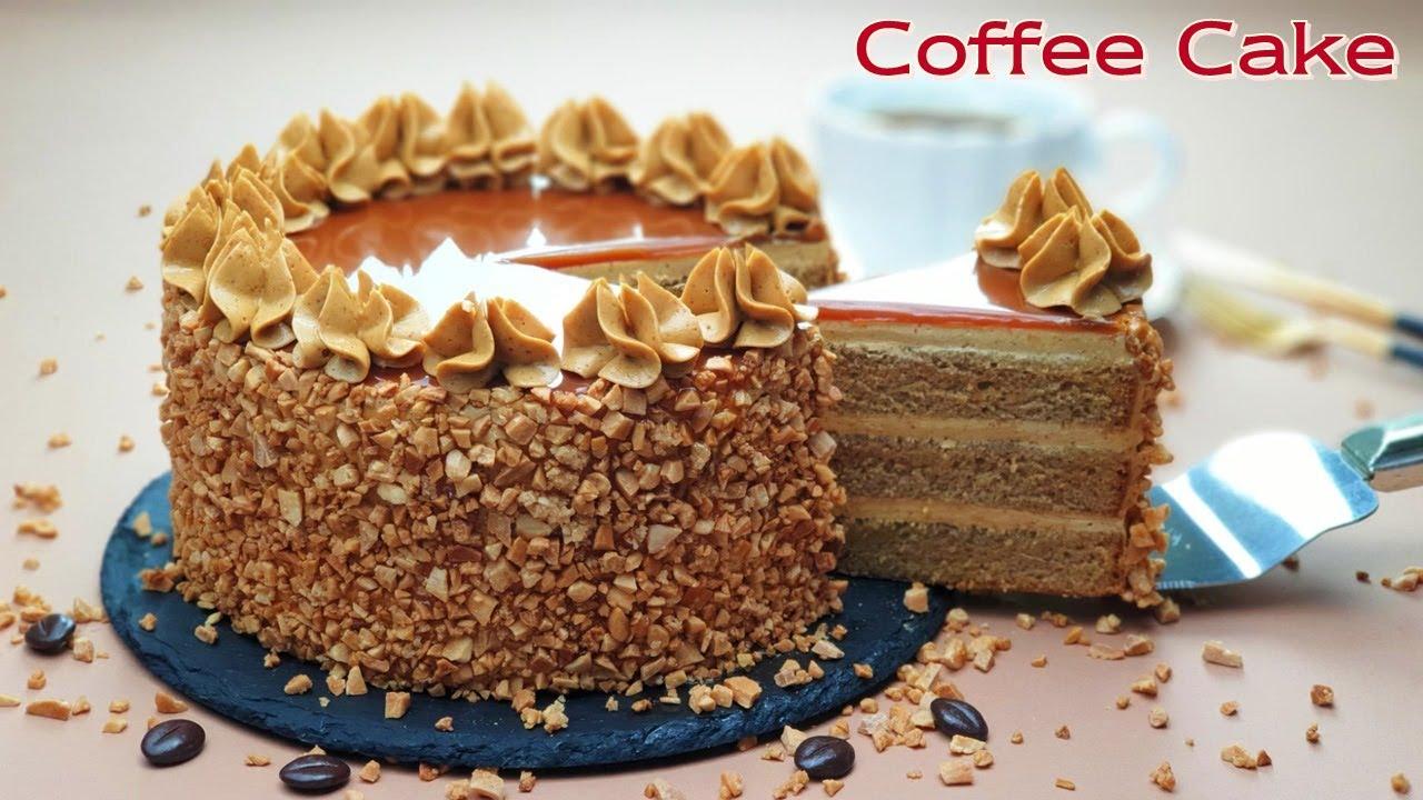 컵 계량 /  카라멜 커피 케이크 / Caramel Coffee Buttercream Cake Recipe / Mirror Glaze Cake / 모카 케이크