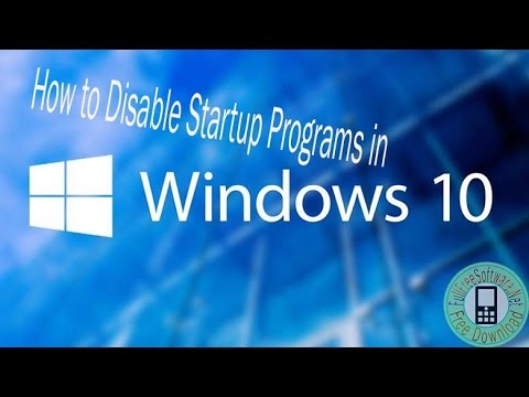 How to Disable Startup Programs in Windows 10 very fast