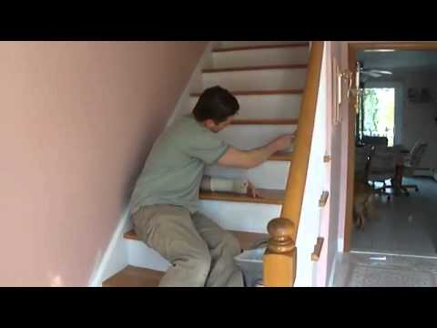 White Painting San Jose Presents Refinish  Paint Hardwood Stairs that were Carpeted