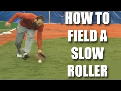 Baseball tips: How to field a slow roller with Adam Rosales