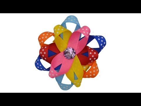 How To Make A Looped Ribbon Flower Hair Bow Clip