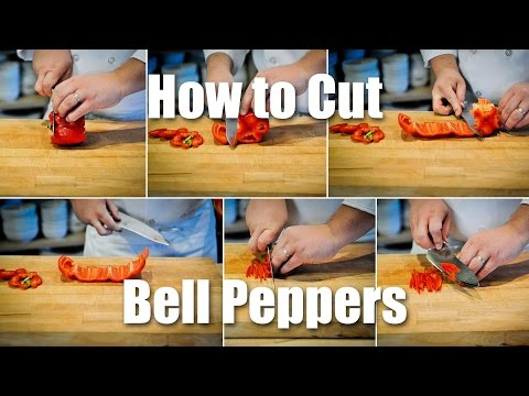 How To Seed And Slice A Bell Pepper