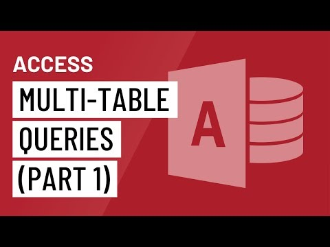 Access 2016: Multi-Table Queries (Part 1)