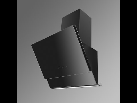 Neptune Angled Glass Kitchen Extractor - Luxair Cooker Hoods