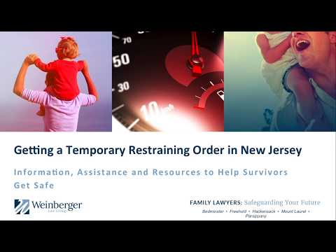 How To Get A Temporary Restraining Order in New Jersey