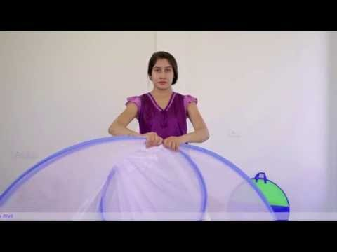 Classic double bed mosquito net Folding method-I