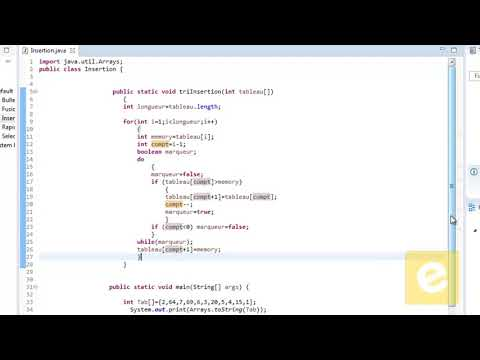 Java : Tri Par Insertion
