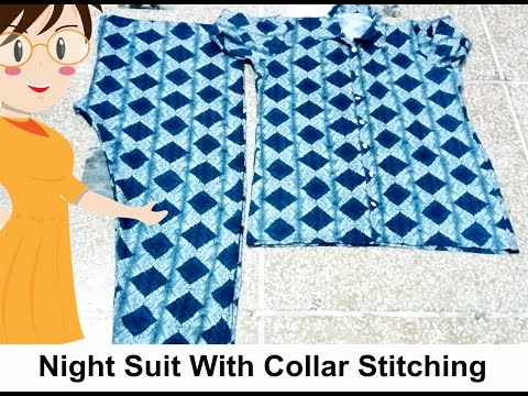 Night Suit With Collar Stitching - Tailoring With Usha