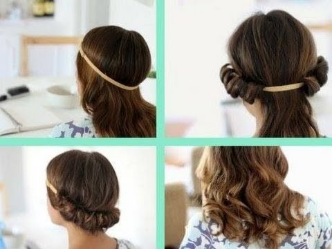 How To Curl your Hair Without Heat! (head band)
