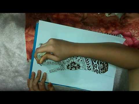 Nail Art using mehandi