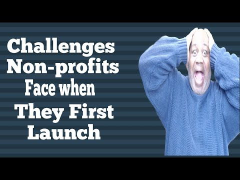 Challenges nonprofits have when they first organize and start