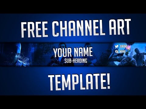 free gaming channel art banner template by ryzeus graphics