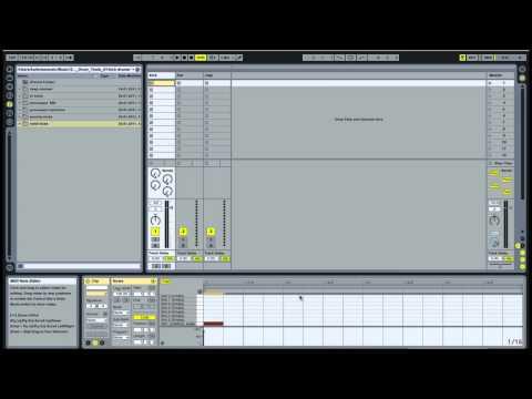 Ableton: Making a basic House beat 1- Adding Kick Hat Clap