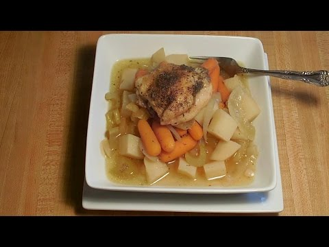 Crock Pot Chicken Thighs and Vegetable Soup - E215