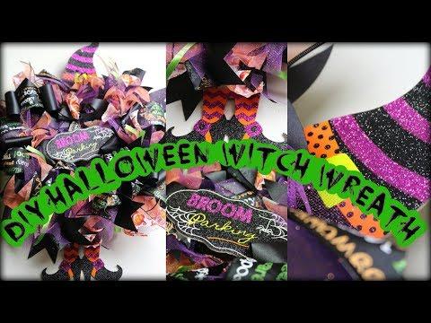 Dollar Tree DIY Halloween Witch Wreath