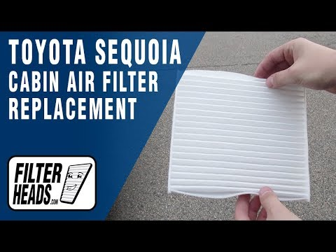 How to Replace Cabin Air Filter 2016 Toyota Sequoia