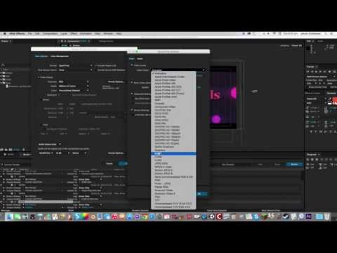 How to Export to mp4 from Adobe After Effects (mac)