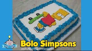 Como fazer Bolo Simpsons/ Bart Simpson/ Transferindo desenho para bolo.