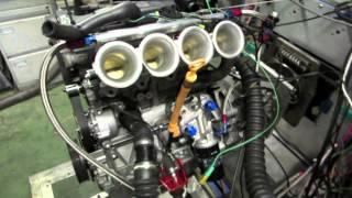 Skoda Fabia S2000 rally engine on dyno with KMS MD35ecu